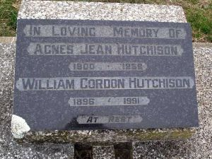 Hutchison, William Gordon and Agnes Jean (nee Creer)