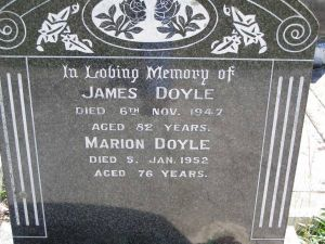 Doyle, James and Marion (nee Fogg)
