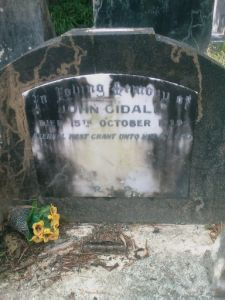 Gidall, John Peter Christian (closeup)