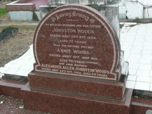Woods, Johnston, Annie nee Allen) & their son Alexander