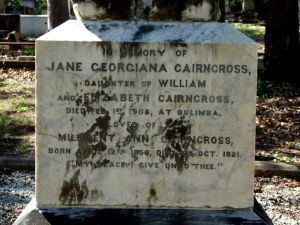 Cairncross, Jane Georgiana and her sister Millicent Ann