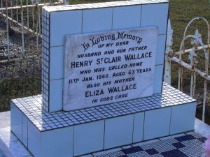 Wallace, Henry St Clair, and his mother Eliza, (nee Payne)