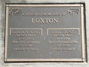 Loxton, Gordon King & Eril June