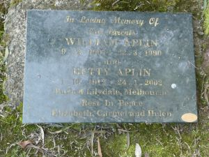 Aplin, William & Betty