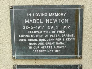Newton, Mabel, (nee Turner)