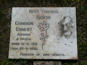 Boon, Gordon Ernest