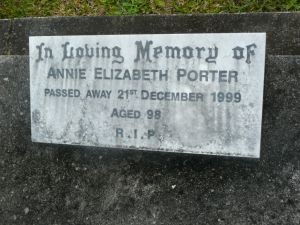 Porter, Annie Elizabeth, (nee Humphries)