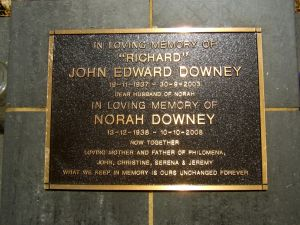 Downey, John Edward and Norah