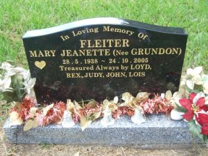 Mary Jeanette  Grundon
