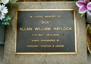 "Allan William ""Dick""  Haylock"
