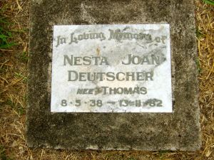 Deutscher, Nesta Joan (nee Thomas)