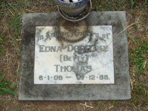 Thomas, Edna Dorothy (Betty) nee Osborne