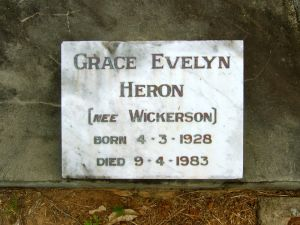 Heron, Grace Evelyn (nee Wickerson)