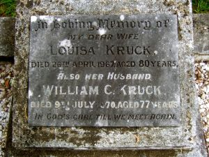 Kruck, William Christian & Louisa Hall