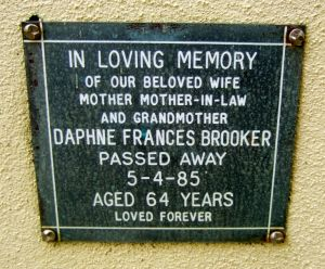 Brooker, Mrs Dahne Frances