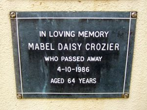Crozier, Mrs Mabel Daisy