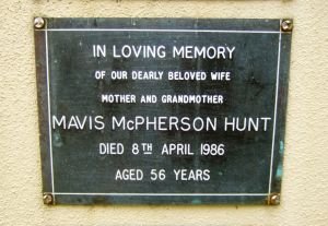 Hunt, Mrs Mavis McPherson