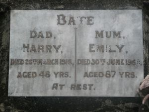 Bate, Harry and Emily Elizabeth (nee Pattemore)