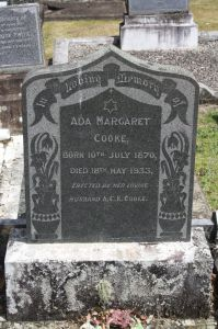 Cooke, Ada Margaret, nee King, died 18 May 1933