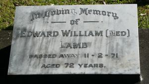 Lamb, Edward William, died 11th February 1971