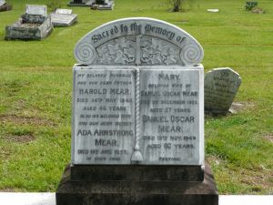 Mear, Samuel Oscar, & Mary (nee Topliss) their son, Harold his wife Ada Armstrong (nee Savage)
