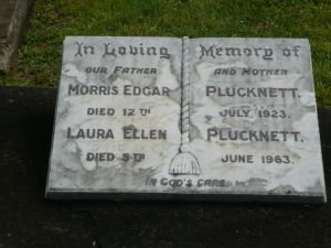 Plucknett, Morris Edgar and Laura Ellen (nee Thornton)