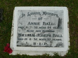Ball, William and Annie Elizabeth (nee Bobermien)