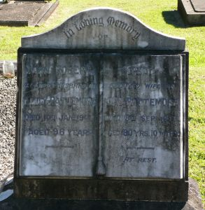 Pattemore, John Robert and Emily (nee Organ)