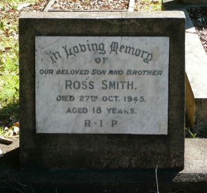 Smith, Ross, died 27 Oct 1945
