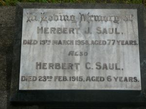 Saul, Herbert Jerimiah and his little son Herbert Charles aged 6