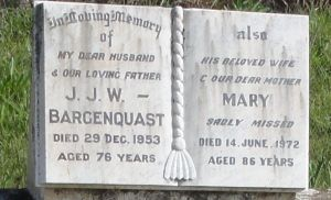 John and Mary Bargenquast nee Thomsen