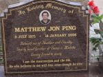 Mathew Jon Ping died 14th January 2006