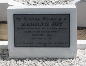 Marilyn Joy Mellor died 23 June 1978