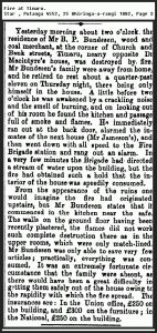 Fire at Timaru NZ 1882