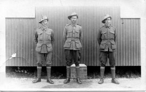 William Charles Sorensen is the  soldier in the centre