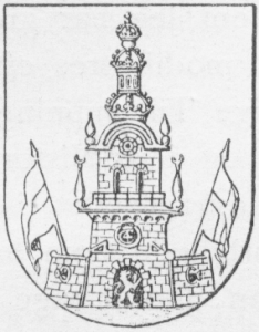 Historical coat of arms of Christianshavn as an independent town.