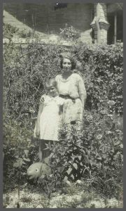 Flora Beryl Smith (nee Brightwell) with her daughter Joan Smith circa 1930 China