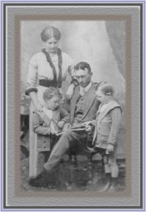 Robert Blackley, Dagma, and their sons Robert and Leslie