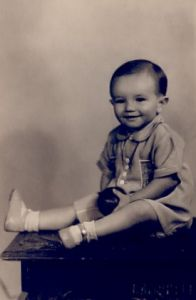 Denis Melksham - traditional baby photo.
