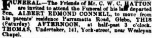 Funeral of Albert Edmund Connell Hatton
