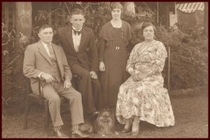 Mr. Charles Ringham Thorne and Mrs. Matilda Roumie (Mattie)  with Jack and Edna.