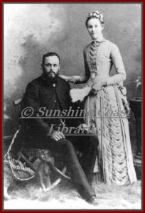 Mr James Page and his wife Rebecca nee Fenwick, of the Peachester district, ca 1890.