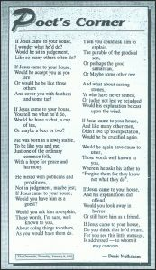 Poem by Denis Melksham - Fraser Coast Chronicle.