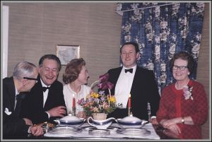 Golden Wedding celebration of David Caldow Simpson and Dorothy (nee Muller), March 1968.