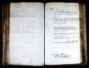 Marriage Licence of John Scott and Margaret Simpson nee Lister 1789