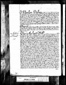 Will of John Pratt 1822 (page 1)