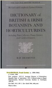 'Dictionary of British & Irish Botanists and Horticulturalists', 1994