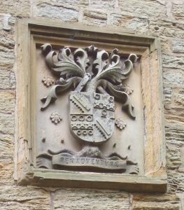 'Peradventure' (by adventure). One of the two coats of arms on Elvet Hill, Durham.