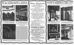An advertisement for W.B Simpson & Sons, the company William Butler Simpson founded in 1833.