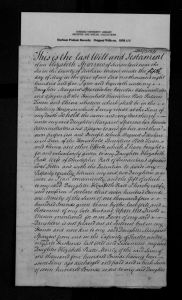 Will of Elizabeth Sparrow (nee Graydon) 1805